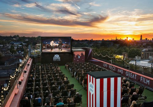 Roof top Cinema Peckham