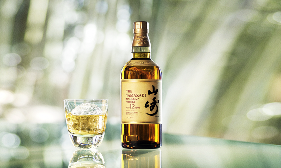Yamazaki bottle and glass
