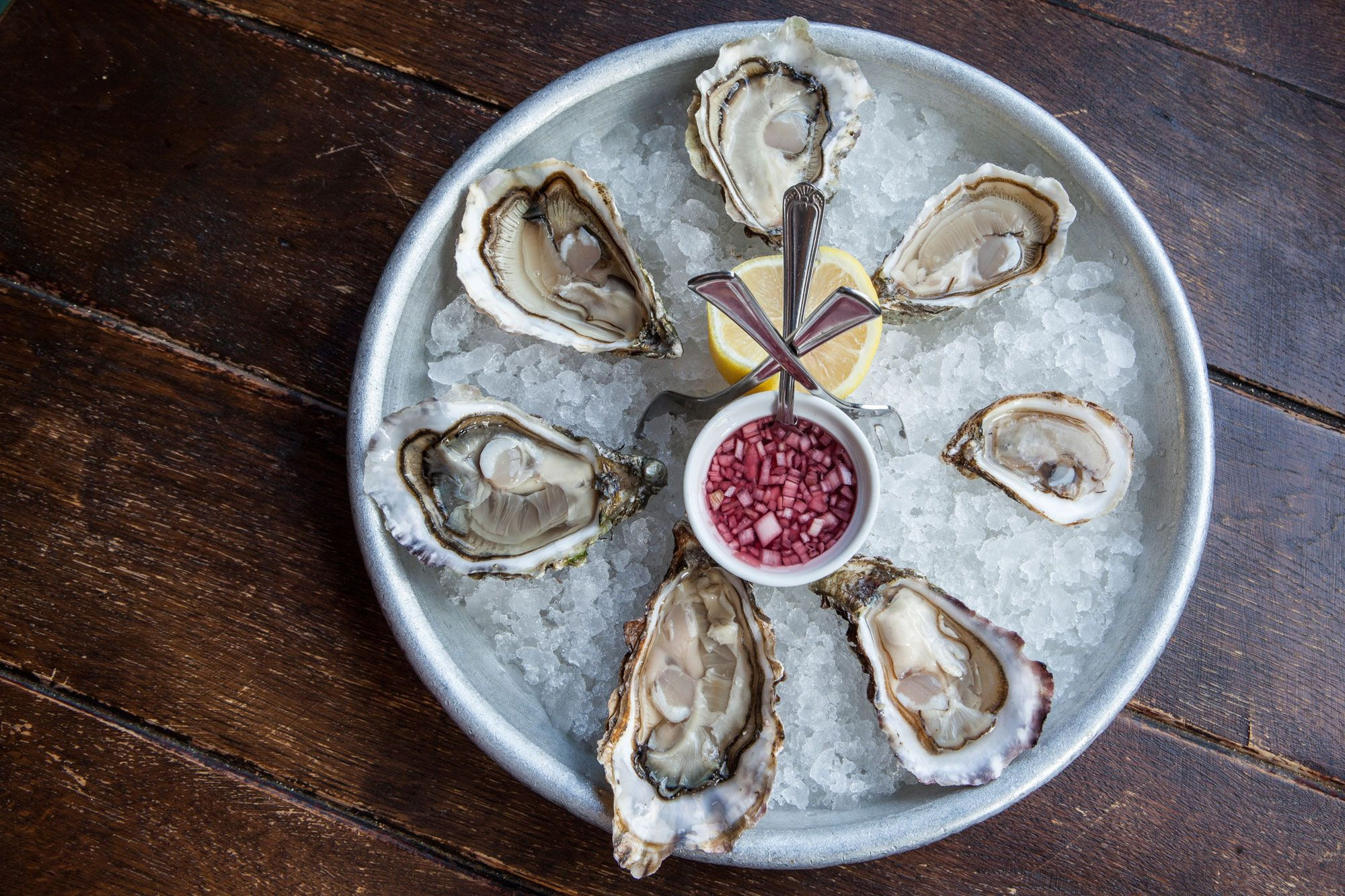 selection of oysters opened Wright Bros. Limited