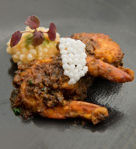 Tiger Prawns, Sago Fritters, Indian Sorrel Chutney - Indian Accent